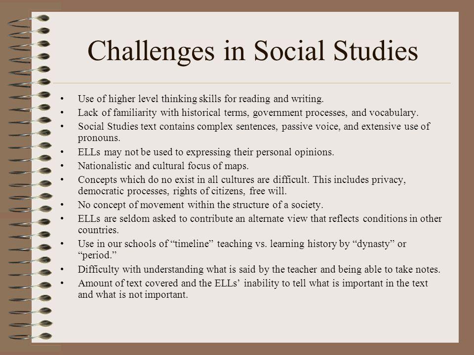 Challenges in Social Studies