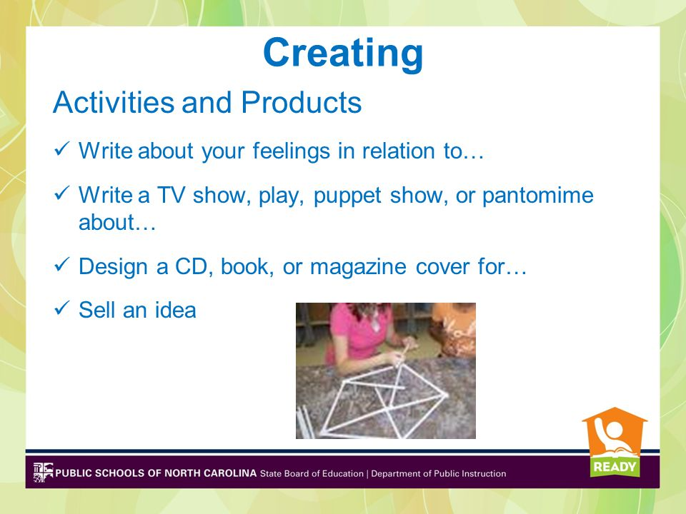 Creating Activities and Products