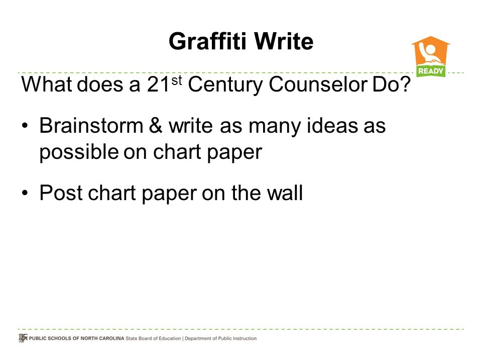 Graffiti Write What does a 21st Century Counselor Do
