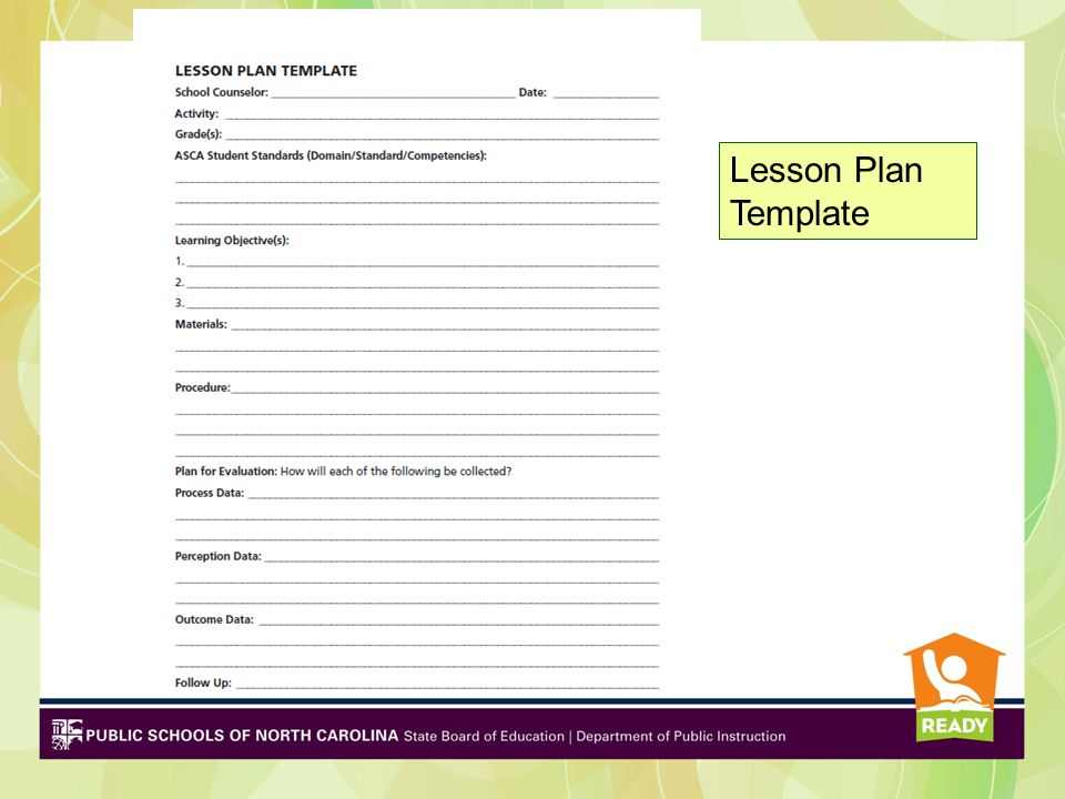 School Counselors As Leaders And Advocates Implementing The NC - School counselor lesson plan template