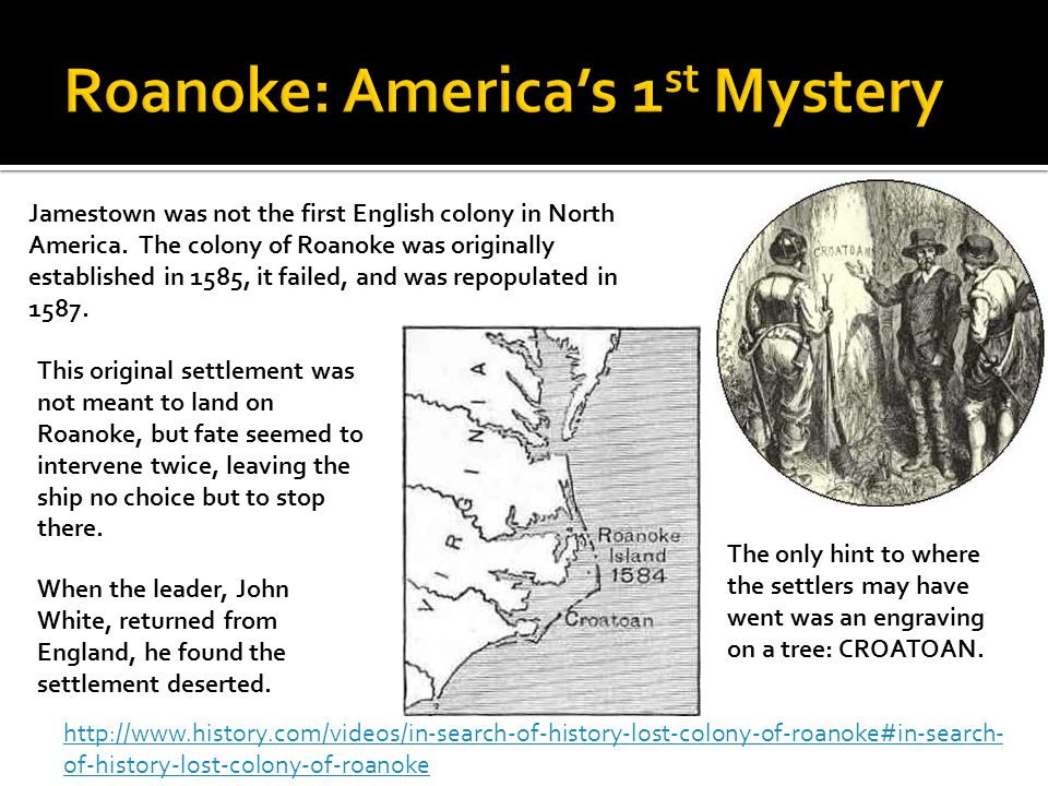 Roanoke: America's 1st Mystery