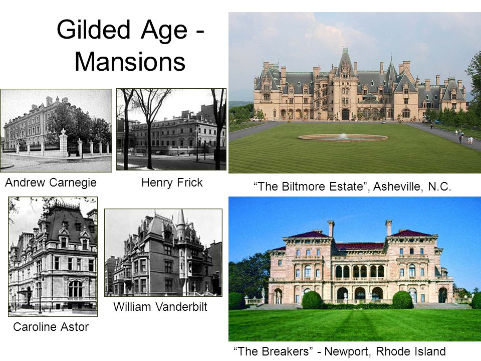 Gilded Age - Mansions Andrew Carnegie Henry Frick