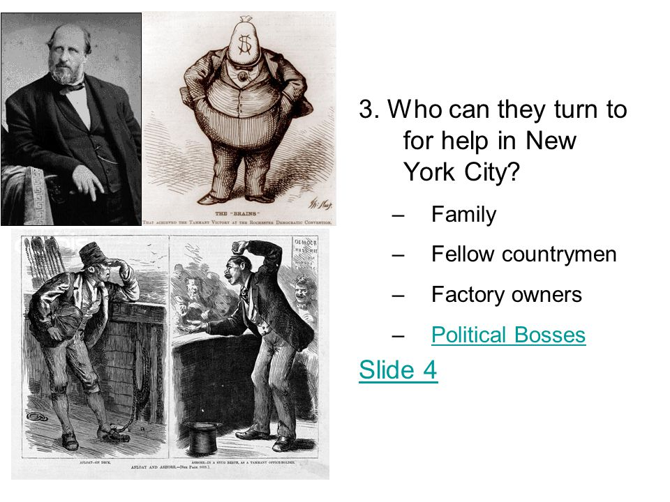 3. Who can they turn to for help in New York City