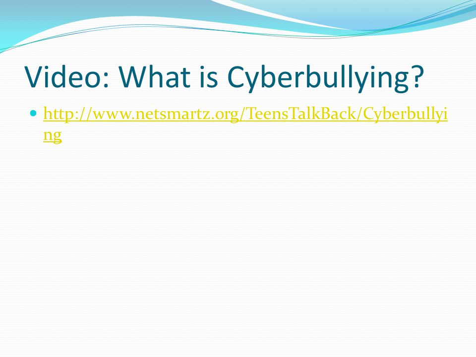 Video: What is Cyberbullying