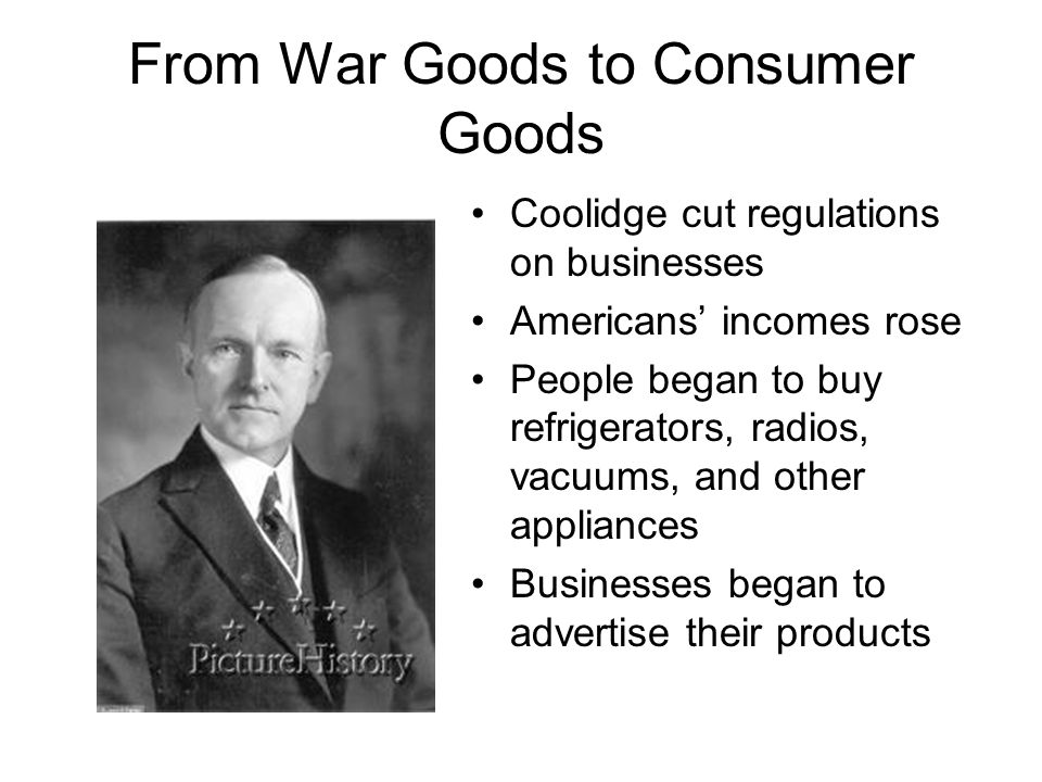 From War Goods to Consumer Goods
