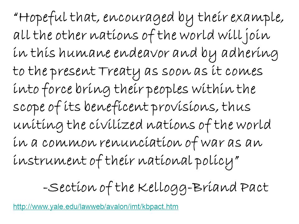 -Section of the Kellogg-Briand Pact