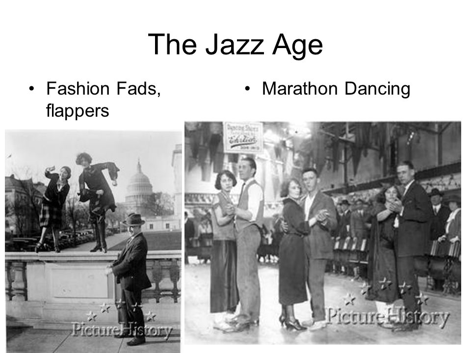 The Jazz Age Fashion Fads, flappers Marathon Dancing