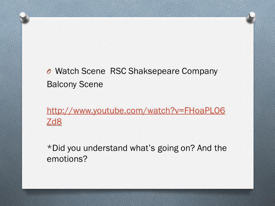 Watch Scene RSC Shaksepeare Company
