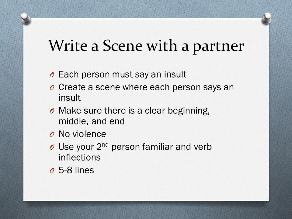 Write a Scene with a partner