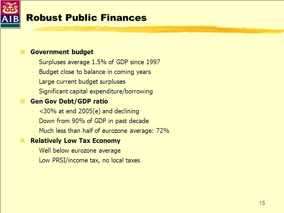 Robust Public Finances