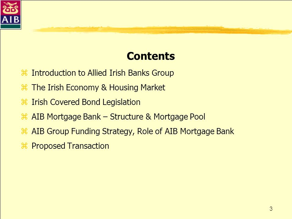 Contents Introduction to Allied Irish Banks Group
