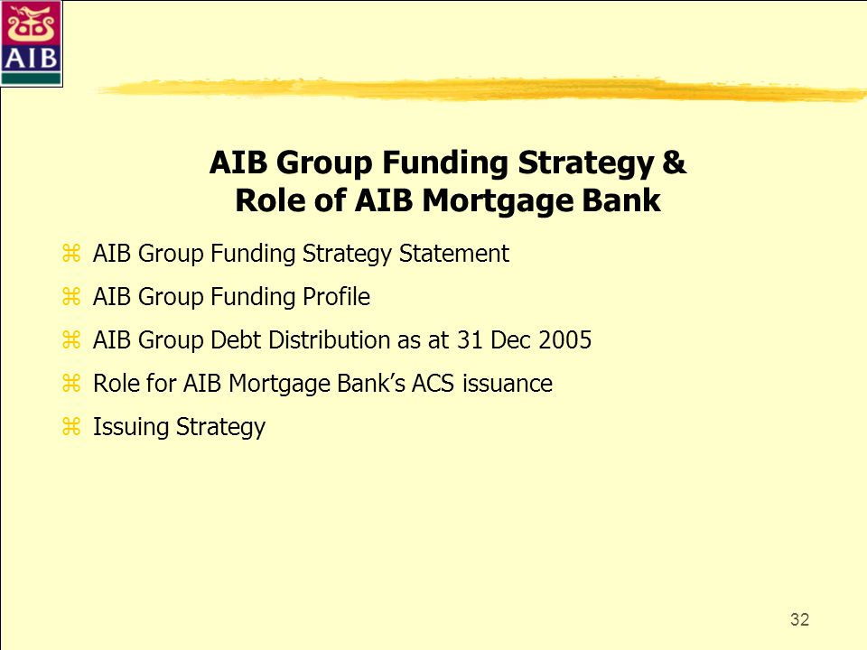 AIB Group Funding Strategy & Role of AIB Mortgage Bank