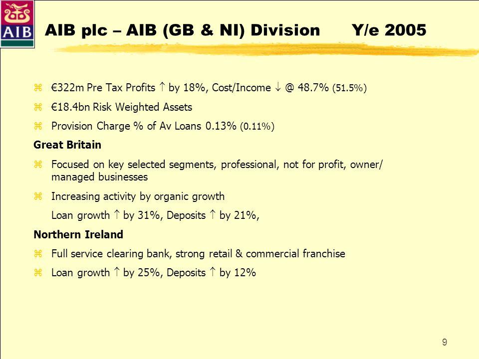 AIB plc – AIB (GB & NI) Division Y/e 2005