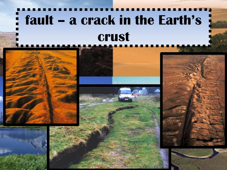 fault – a crack in the Earth's crust