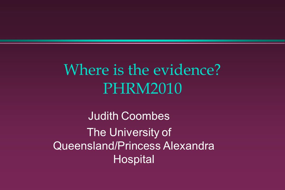 Where is the evidence PHRM2010