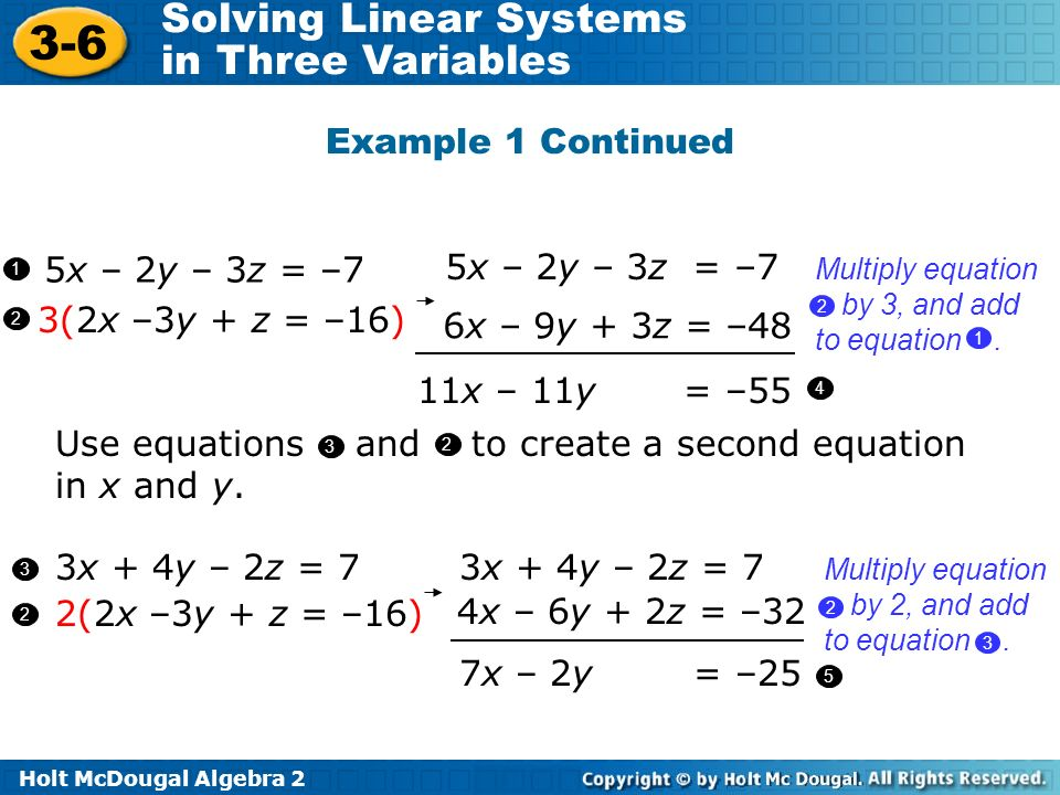 Use equations and to create a second equation in x and y.