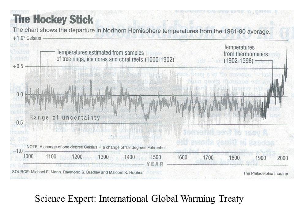 Science Expert: International Global Warming Treaty