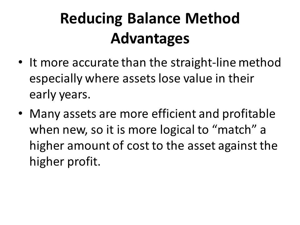 Reducing Balance Method Advantages