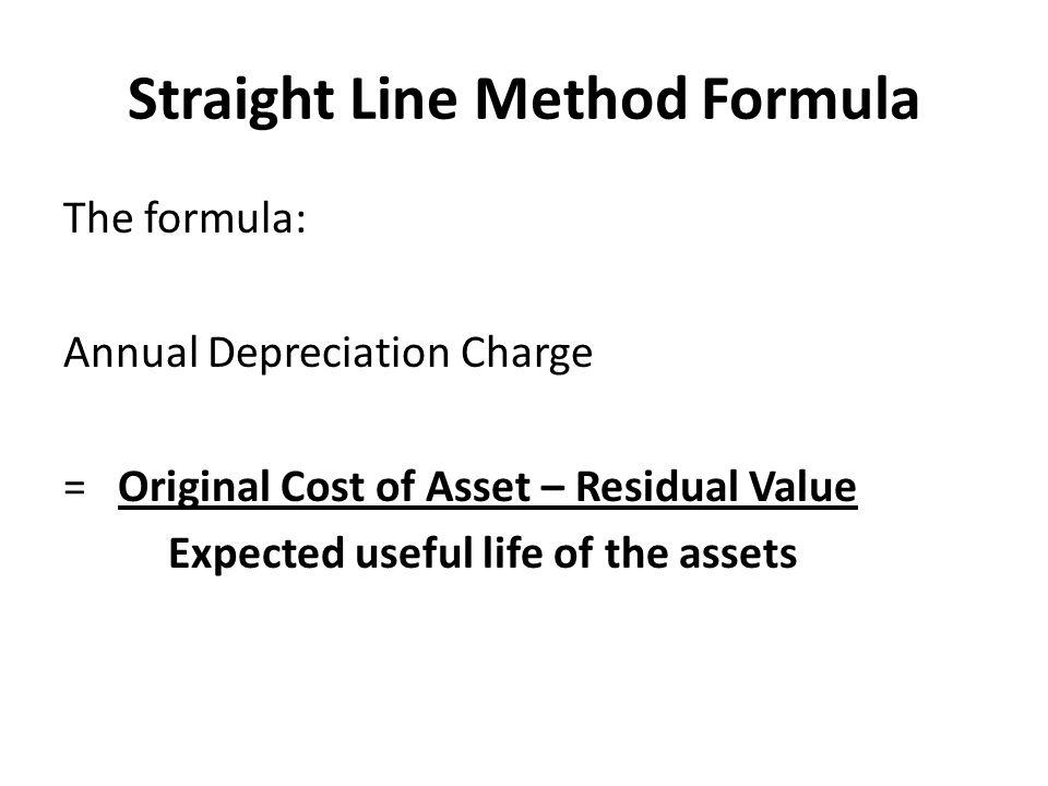 Straight Line Method Formula