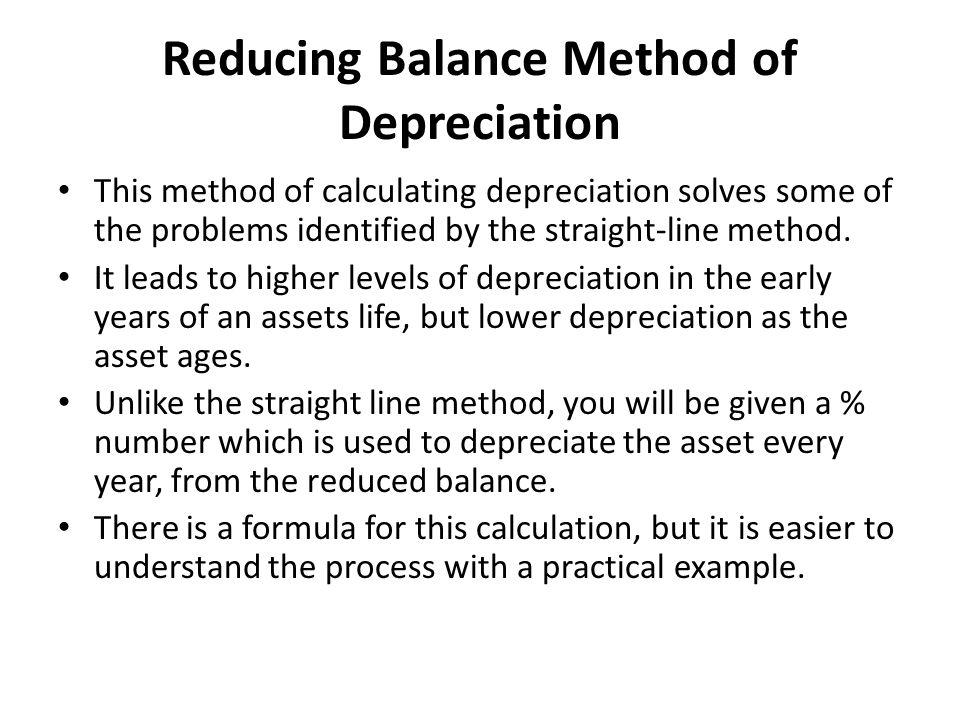 Reducing Balance Method of Depreciation