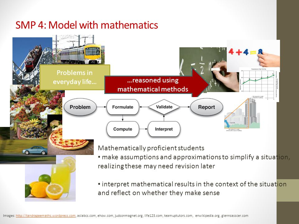 SMP 4: Model with mathematics