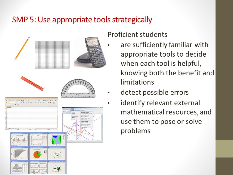 SMP 5: Use appropriate tools strategically