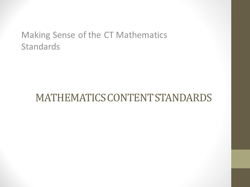 Mathematics content Standards