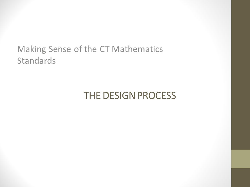 Making Sense of the CT Mathematics Standards
