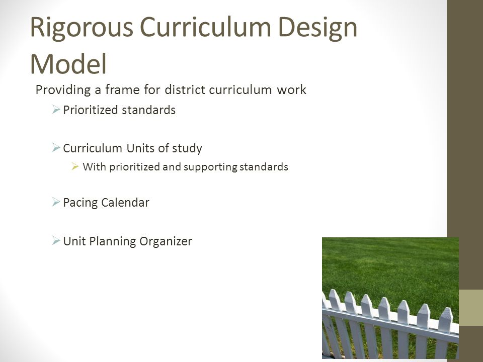 Rigorous Curriculum Design Model