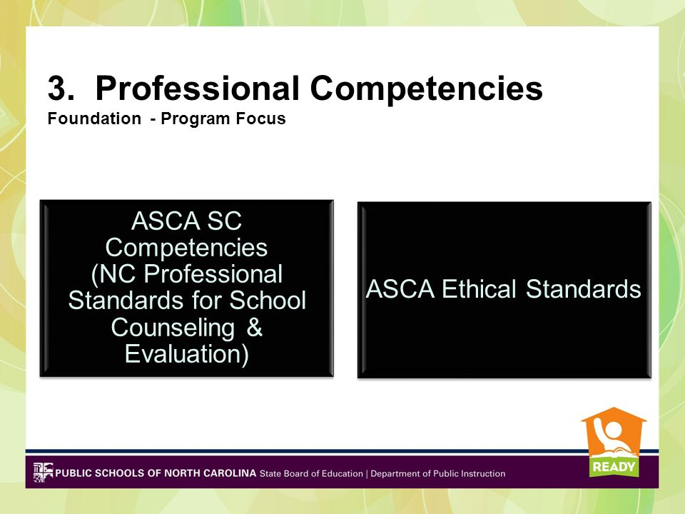 3. Professional Competencies Foundation - Program Focus