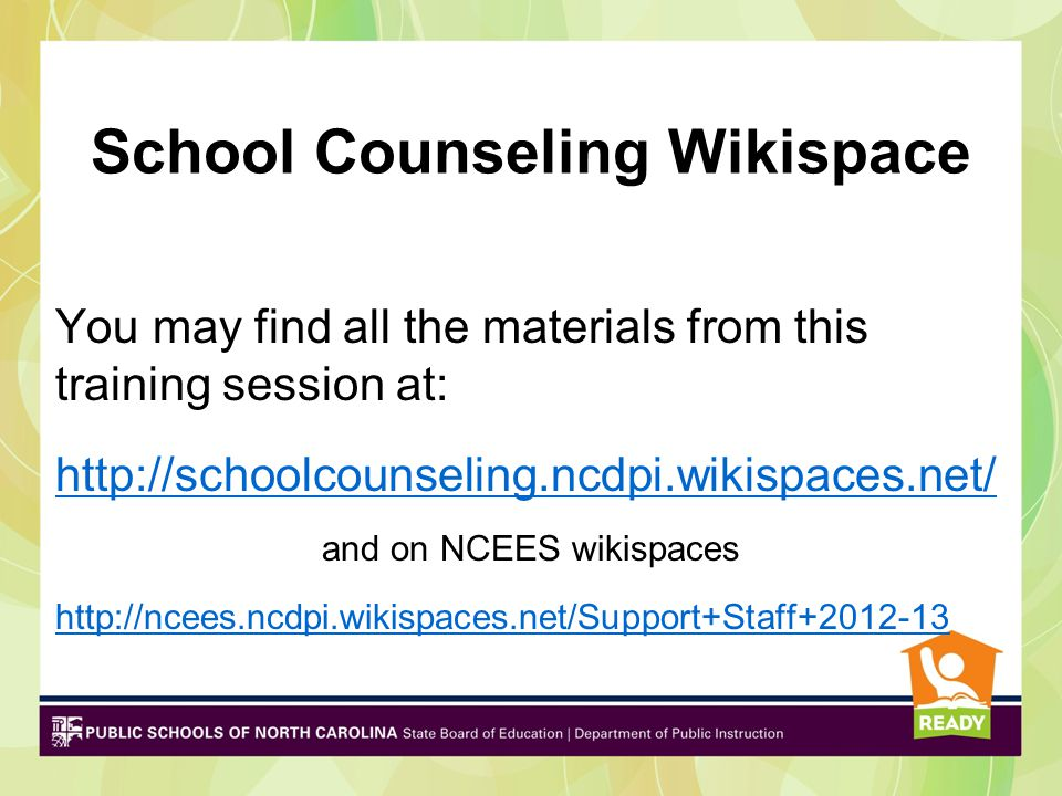 School Counseling Wikispace