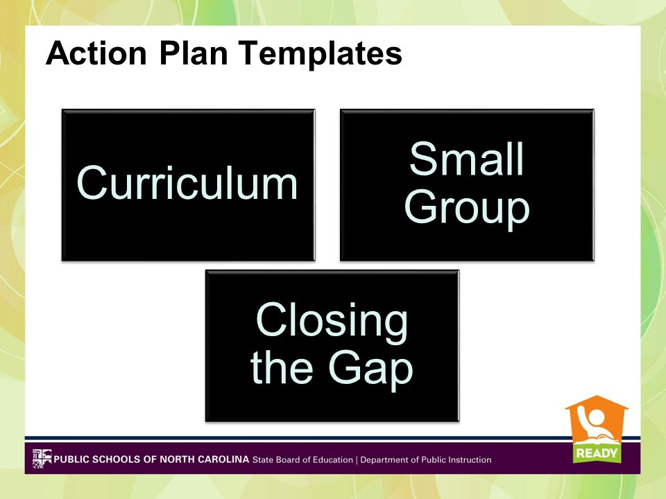 Small Group Curriculum Closing the Gap Action Plan Templates