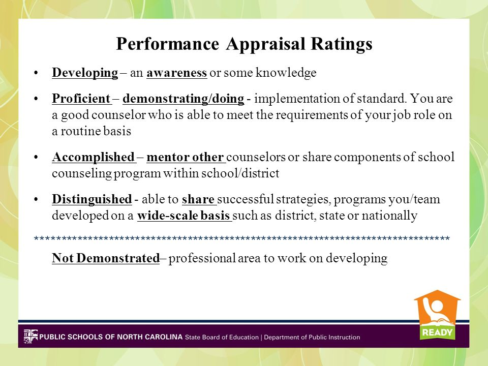 Performance Appraisal Ratings