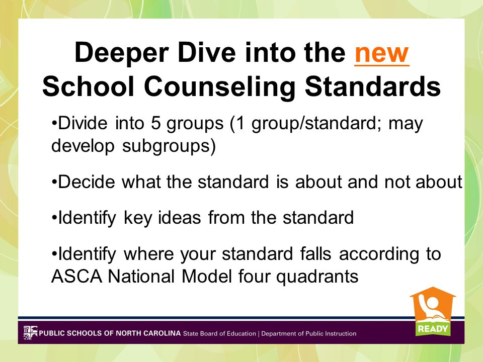 Deeper Dive into the new School Counseling Standards