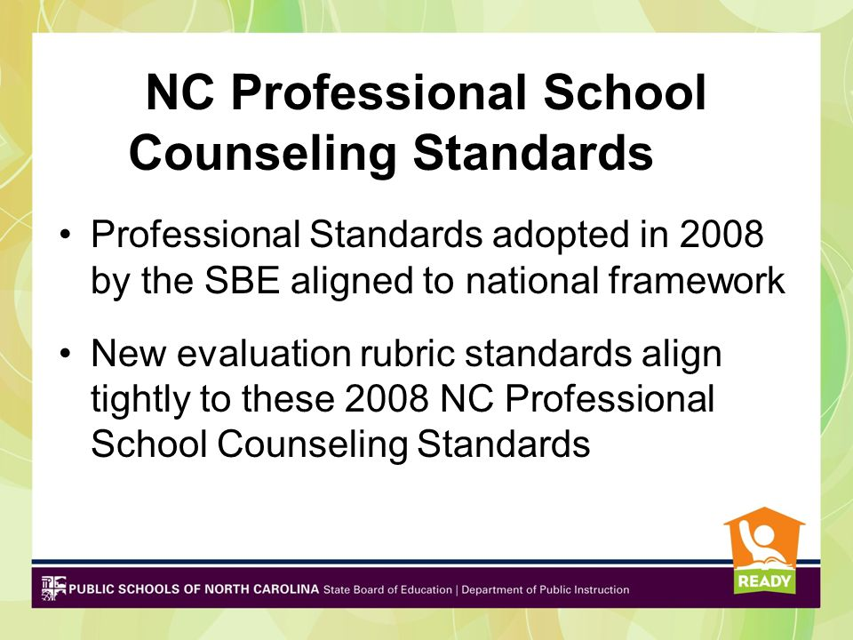 NC Professional School Counseling Standards