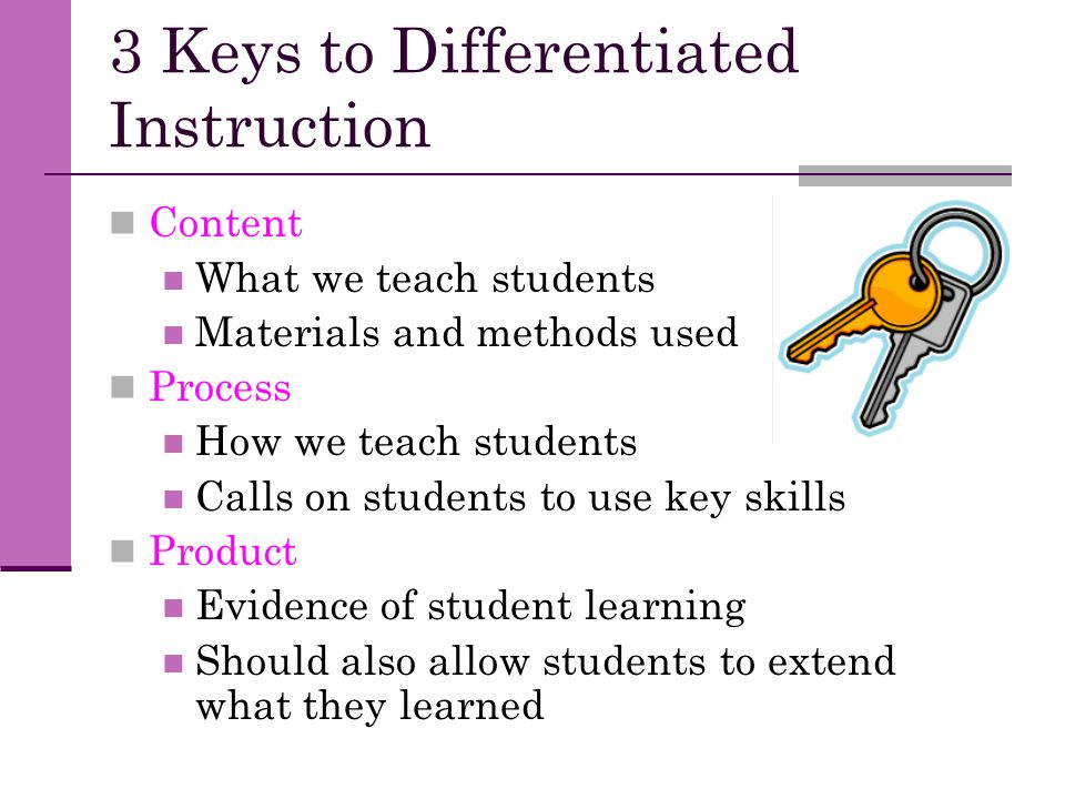 3 Keys to Differentiated Instruction