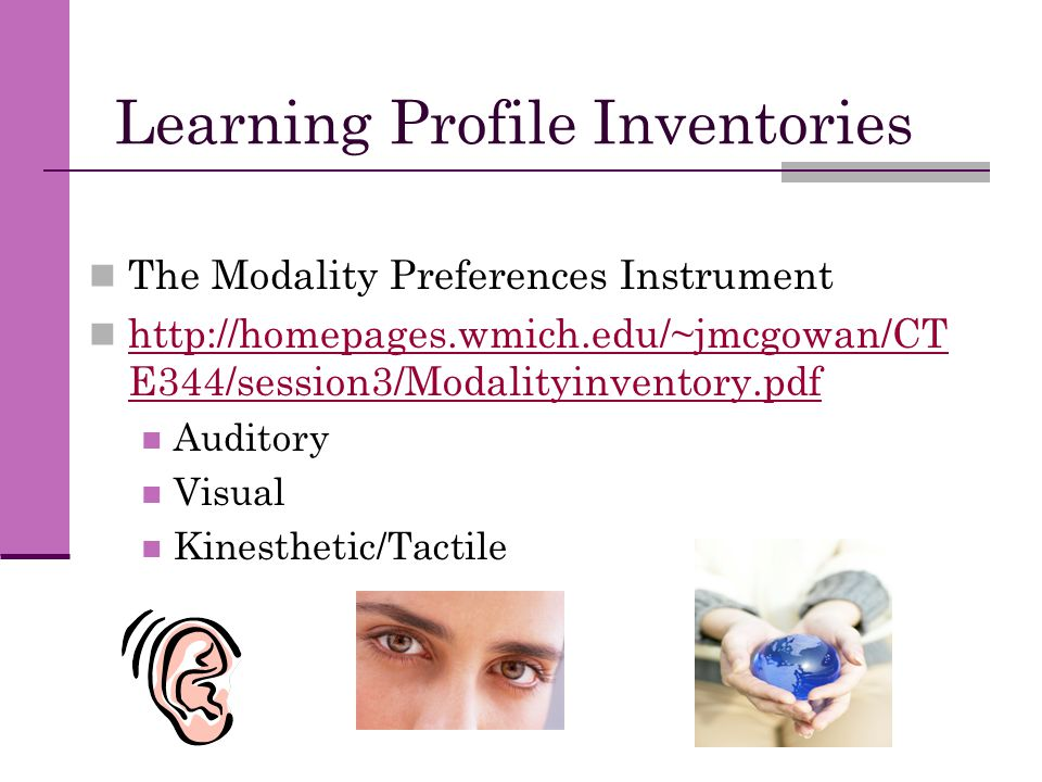 Learning Profile Inventories