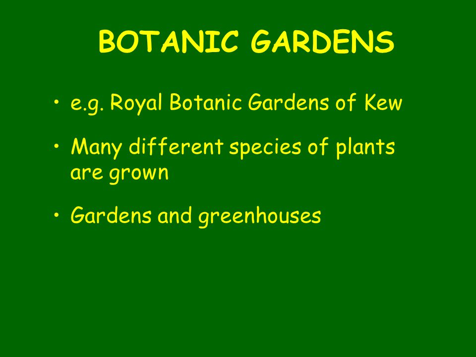 BOTANIC GARDENS e.g. Royal Botanic Gardens of Kew