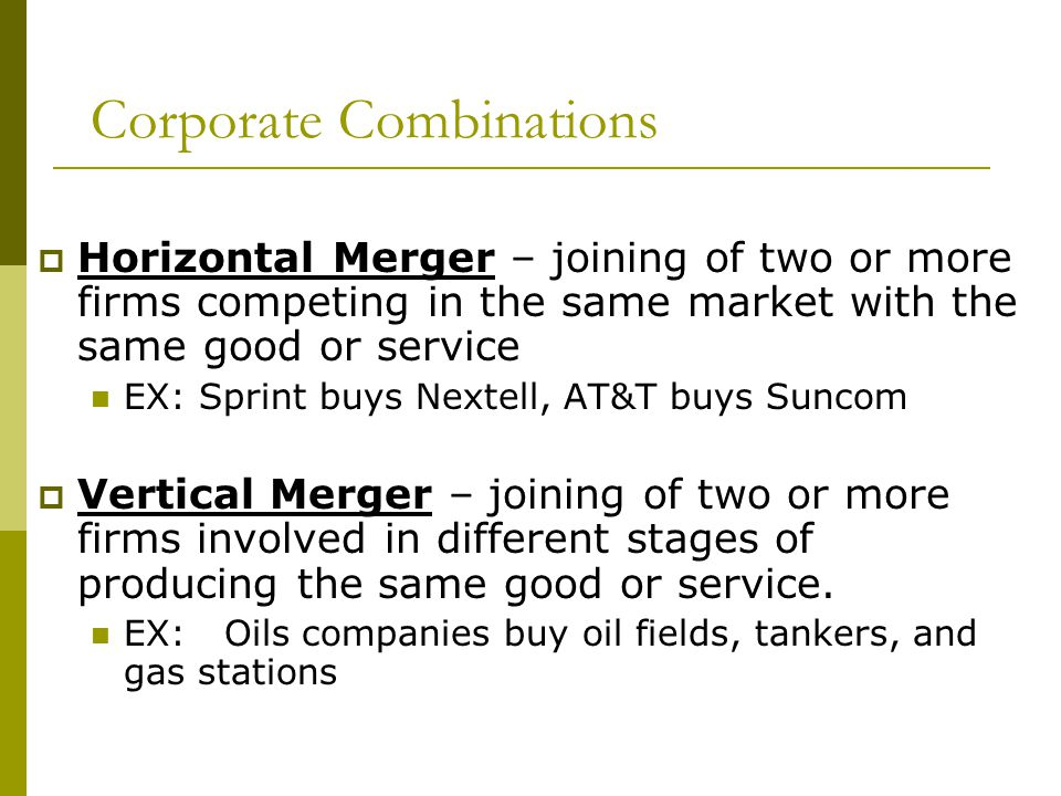 Corporate Combinations