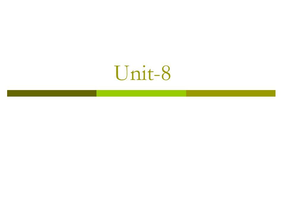 Unit-8