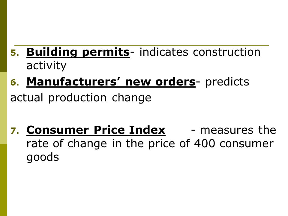 Building permits- indicates construction activity