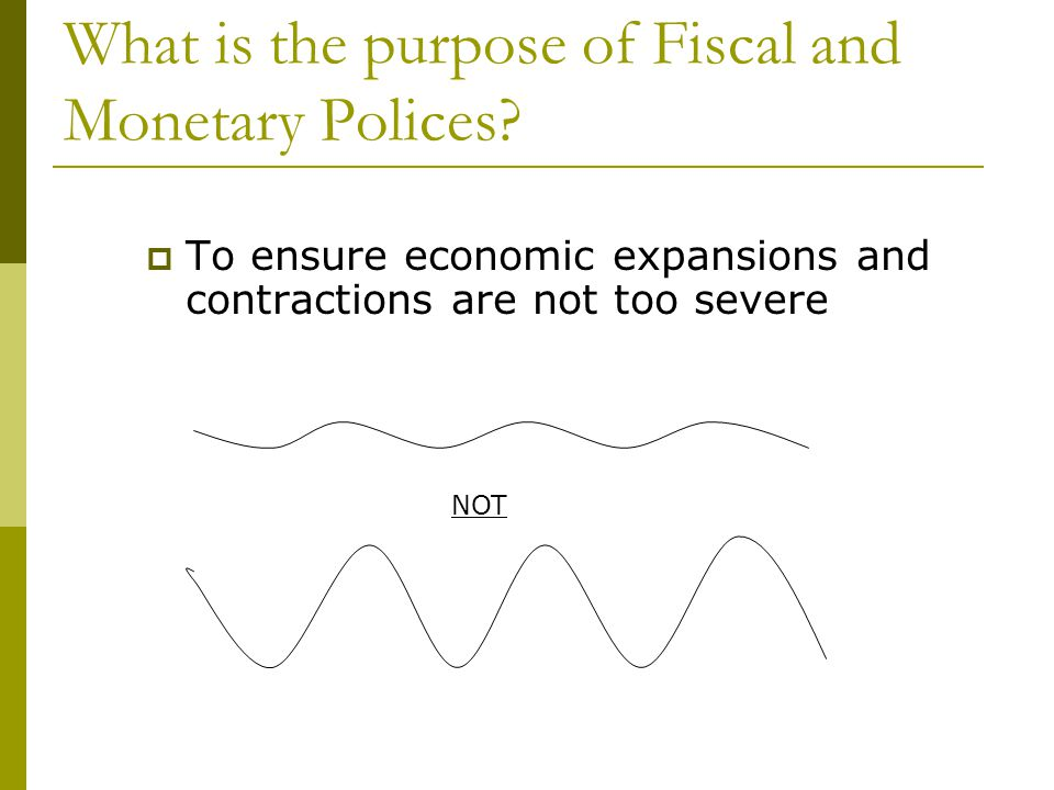 What is the purpose of Fiscal and Monetary Polices