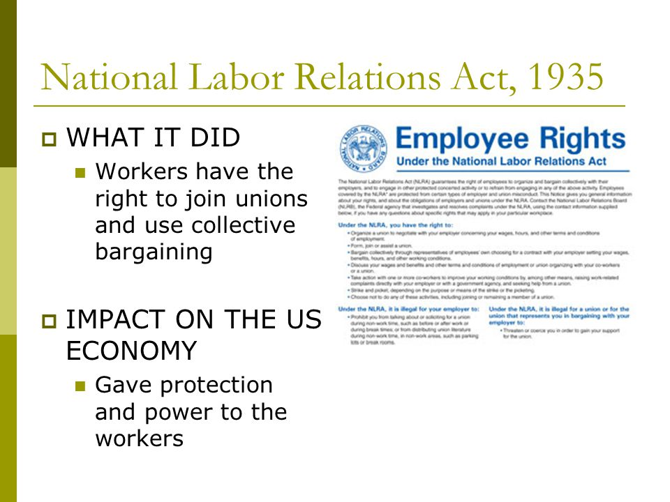 National Labor Relations Act, 1935