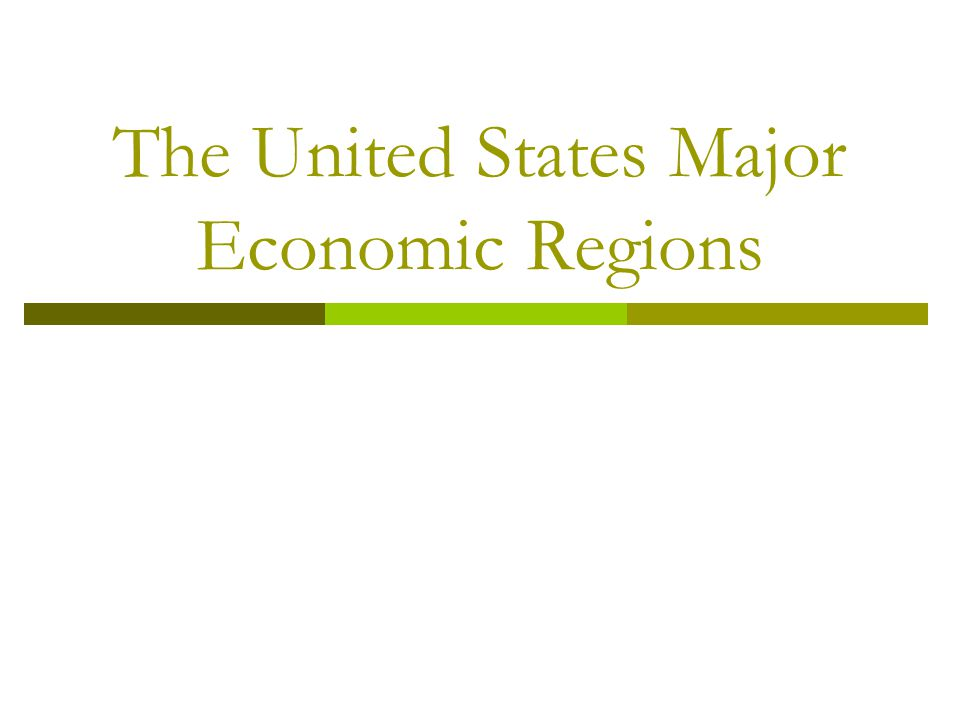 The United States Major Economic Regions