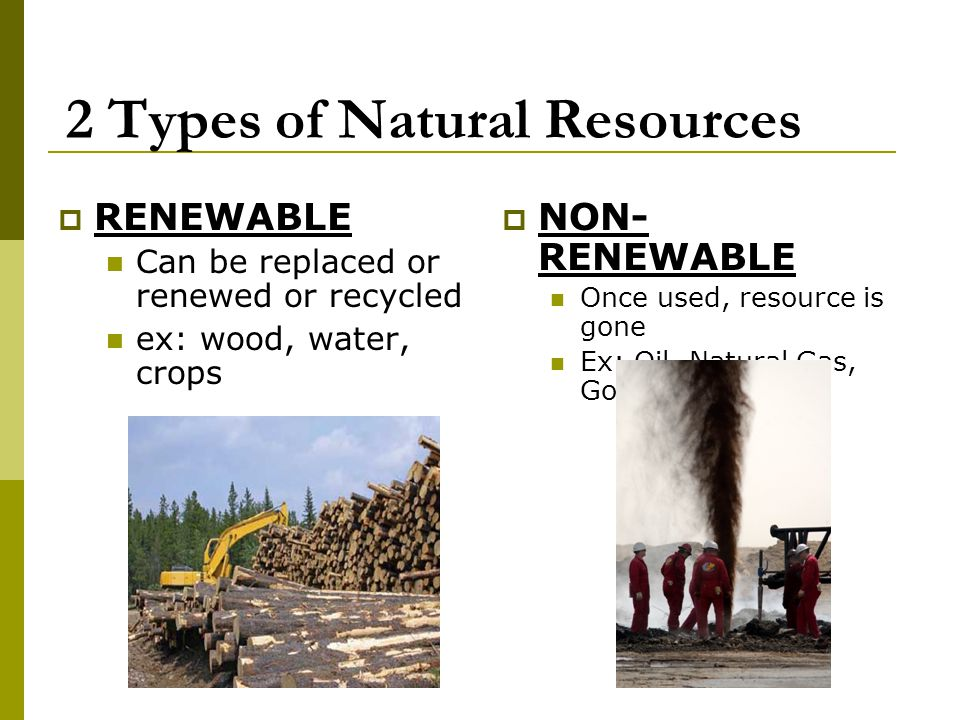 2 Types of Natural Resources