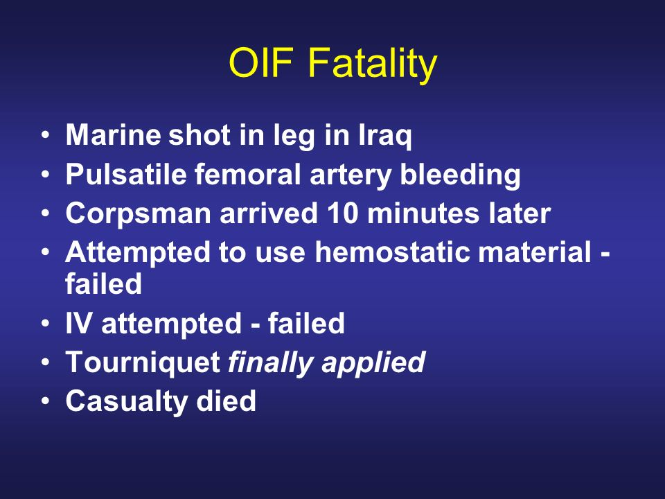 OIF Fatality Marine shot in leg in Iraq