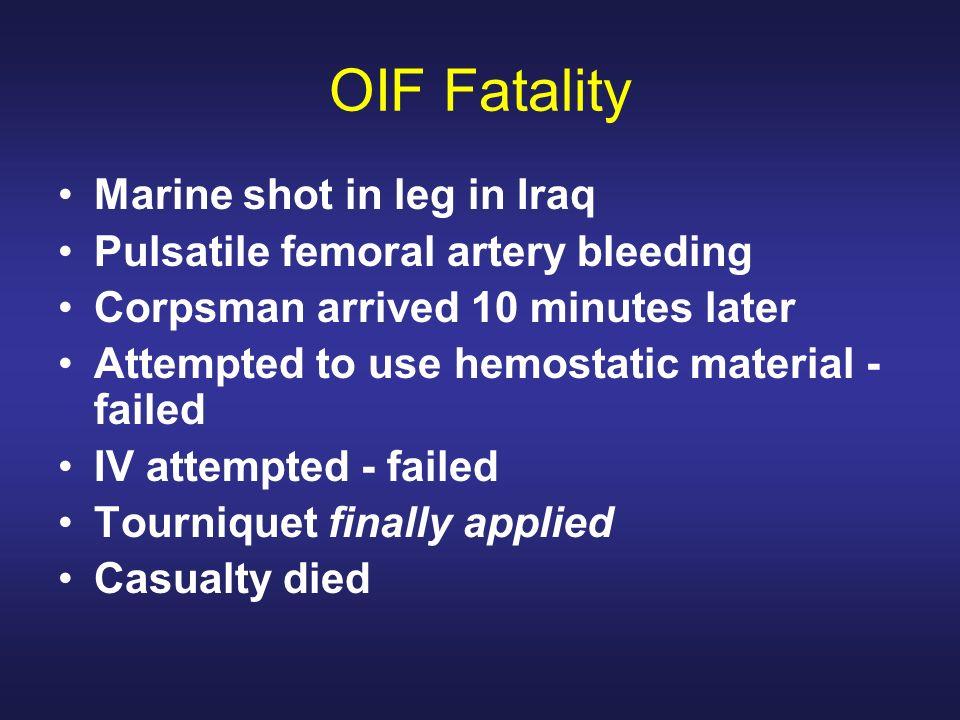 OIF Fatality Marine shot in leg in Iraq