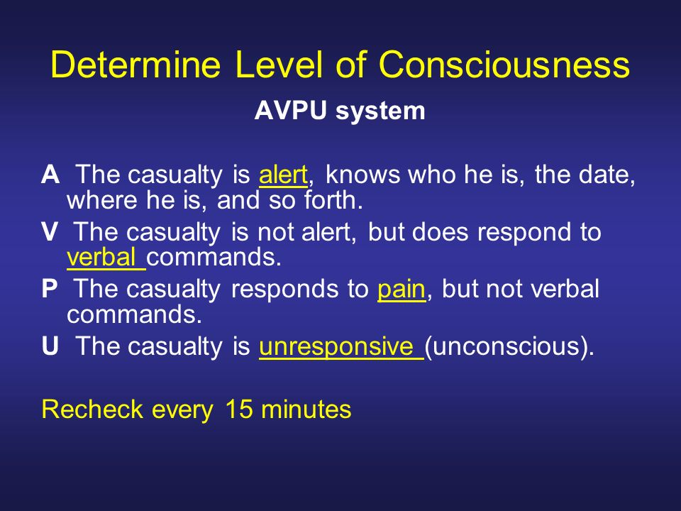 Determine Level of Consciousness