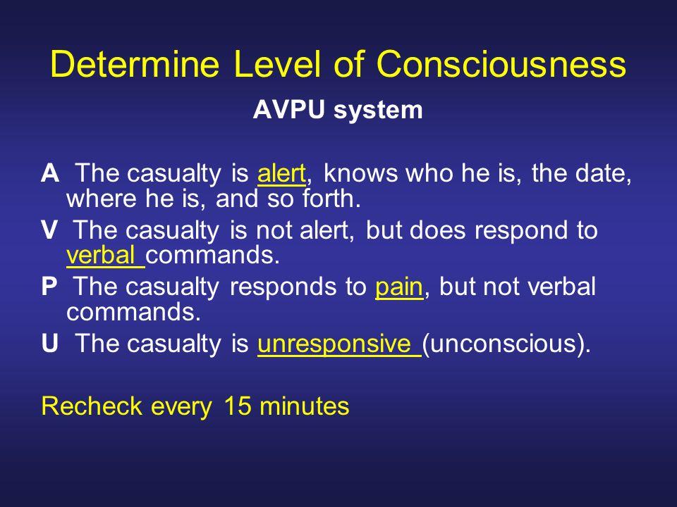Determine Level of Consciousness
