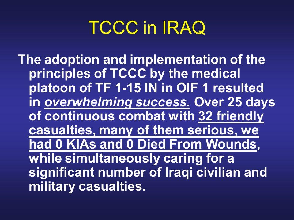 TCCC in IRAQ